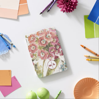 Add Your Monogram | Pink Primrose iPad Mini Cover