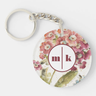 Add Your Monogram | Pink Primrose Key Ring