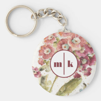 Add Your Monogram | Pink Primrose Key Ring