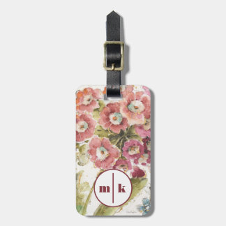 Add Your Monogram | Pink Primrose Luggage Tag