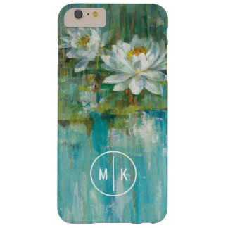 Add Your Monogram | Water Lily Pond Barely There iPhone 6 Plus Case