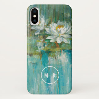 Add Your Monogram | Water Lily Pond iPhone X Case