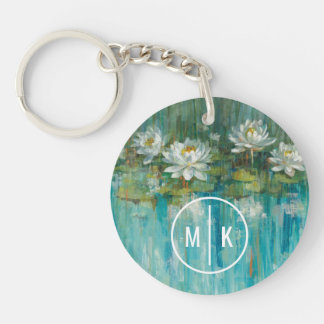 Add Your Monogram | Water Lily Pond Key Ring