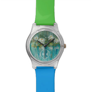 Add Your Monogram | Water Lily Pond Watch