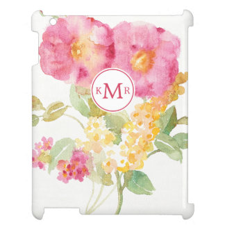 Add Your Monogram   White Daisy on Blue Cover For The iPad