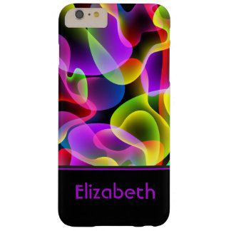 Add Your Name Abstract Neon Lava Swirls Barely There iPhone 6 Plus Case