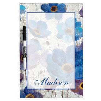 Add Your Name   Bold Anemones Dry Erase Board