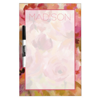 Add Your Name   Bouquet of Roses Dry Erase Board