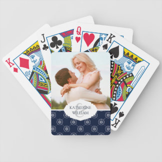 Add Your Name | Captain'S Wheel Pattern Bicycle Playing Cards
