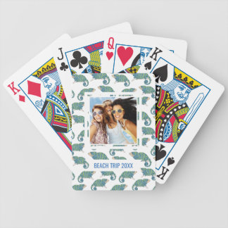 Add Your Name | Chameleon Pattern Bicycle Playing Cards