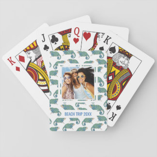 Add Your Name | Chameleon Pattern Playing Cards