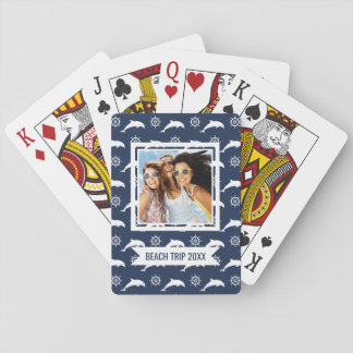 Add Your Name | Dolphins On Parade Pattern Poker Deck