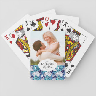 Add Your Name | Funky Seashell Pattern Playing Cards