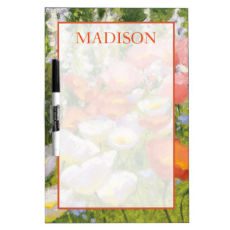 Add Your Name   Garden Pastels Dry Erase Board