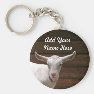 Add Your Name Here Goat Keychain