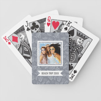 Add Your Name | Hipster Style Coral Reef Bicycle Playing Cards