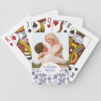Add Your Name | Lavendar Seashells Playing Cards
