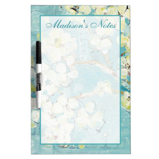 Add Your Name   Live Turquoise Dry Erase Board