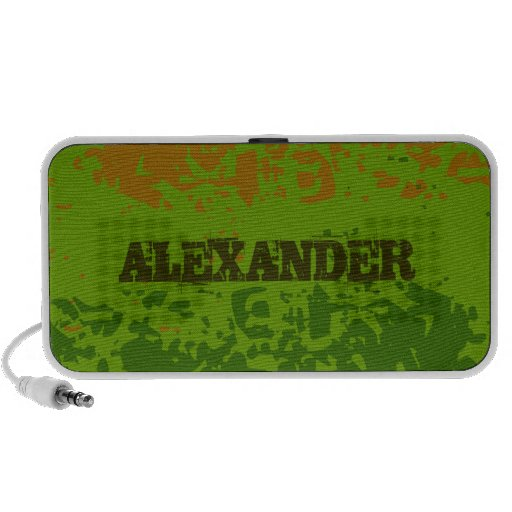 Add Your Name Military Doodle Portable Speakers