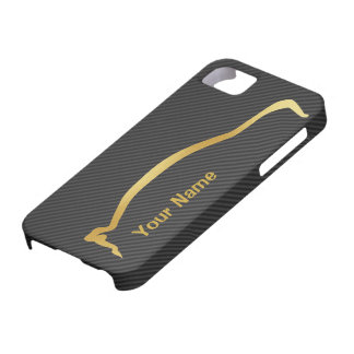 Add your name - Mitsubishi EVO gold silhouette iPhone 5 Case