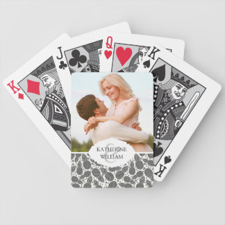 Add Your Name | Monochrome Pineapples Bicycle Playing Cards