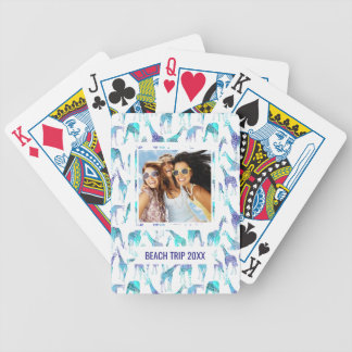 Add Your Name | Neon Giraffes Bicycle Playing Cards