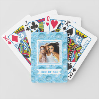 Add Your Name | Ocean Blue Pattern Bicycle Playing Cards