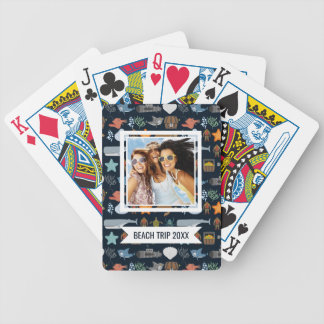 Add Your Name   Ocean Inhabitants Pattern Bicycle Playing Cards
