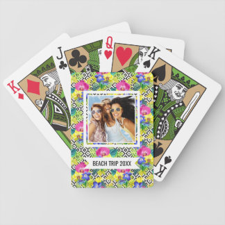 Add Your Name | Orchid Begonia And Palm Leaves Bicycle Playing Cards
