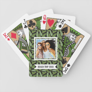 Add Your Name | Palm Leaves Bicycle Playing Cards