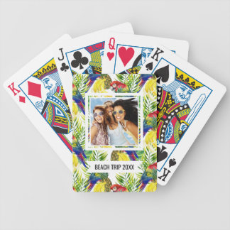 Add Your Name | Parrots And Tropical Fruit Bicycle Playing Cards