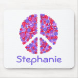 Add Your Name Peace-sign  Mousepad
