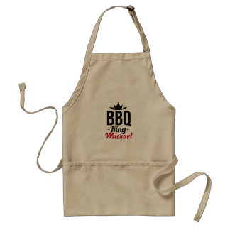 Add your name personalized BBQ King Standard Apron