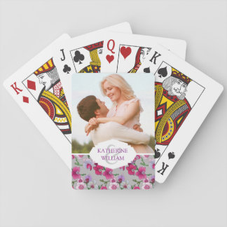 Add Your Name | Pink Orchids In Bloom Playing Cards