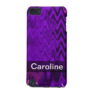 Add your Name purple black wave iPod Touch (5th Generation) Cases