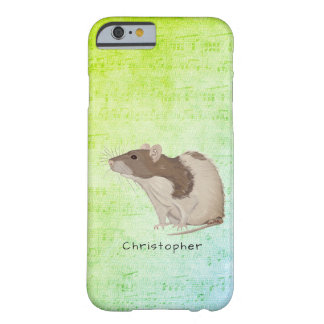 Add Your Name Rat Design Barely There iPhone 6 Case