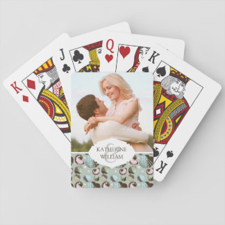 Add Your Name | Retro Seashell Pattern Playing Cards