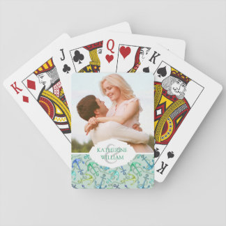 Add Your Name | Sea Anchors And Rope Pattern Playing Cards
