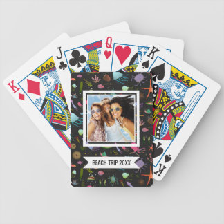 Add Your Name | Sea Critters Pattern Bicycle Playing Cards