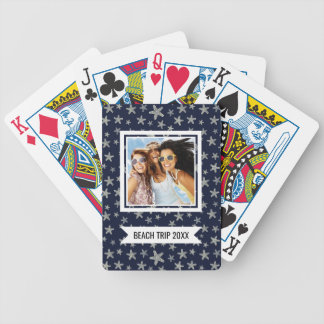 Add Your Name | Sea Of Starfish Pattern Bicycle Playing Cards