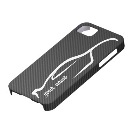 """""""add your name"""" Skyline GT-R White Silhouette Logo iPhone 5 Covers"""