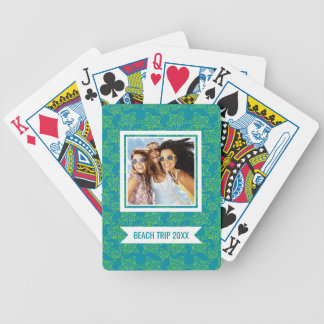 Add Your Name | Starfish Crowd Pattern | Monogram Bicycle Playing Cards