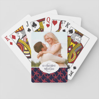 Add Your Name | Starfish Style Pattern Playing Cards