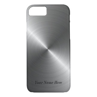 Add Your Name Steel Metal Look iPhone 7 Case