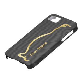 """add your name"" STI Impreza Gold Silhouette iPhone 5 Cover"