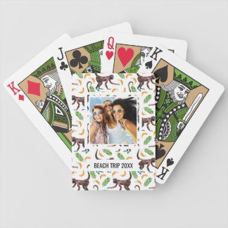 Add Your Name | Sweet Monkeys Juggling Bananas Bicycle Playing Cards