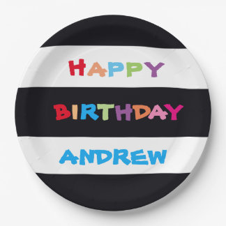 ADD YOUR NAME to Happy Birthday Paper Plates