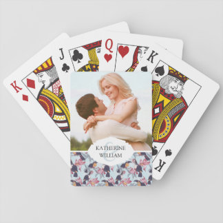 Add Your Name | Toucans With Exotic Flowers Playing Cards