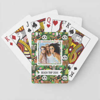 Add Your Name | Tropical Animal Mix Playing Cards