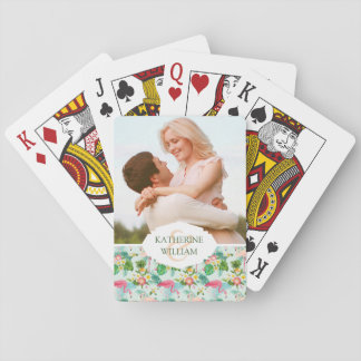Add Your Name | Tropical Flowers And Birds Playing Cards